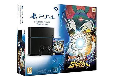 Console Playstation 4 1 To Jet Black + Naruto Shippuden ...
