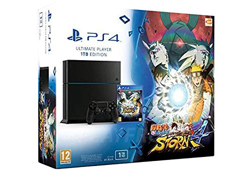 Console Playstation 4 1 To Jet Black + Naruto Shippuden ...