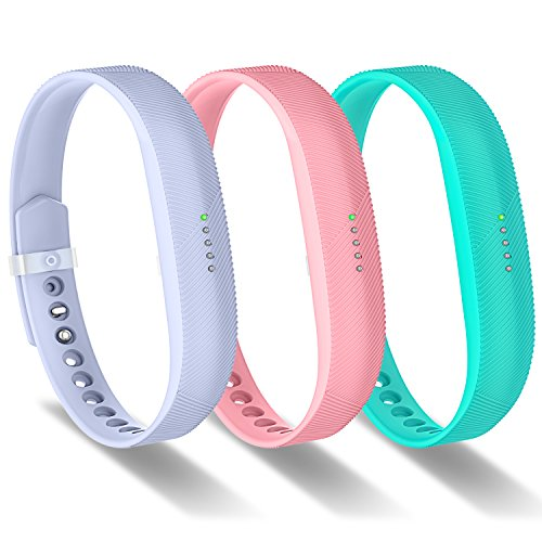 le Fitbit Flex 2 Band, Silicon Replacement Wristband Strap for Fitbit Flex 2 Smart Watch Sports Classic Fitness Accessories Wrist Bands Small for Women Men Girls Boys(3Pack) ()