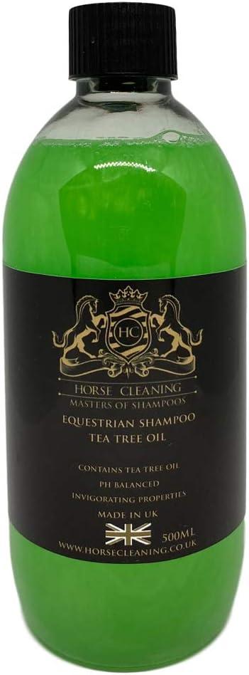 Champú de árbol de té ecuestre para limpieza de caballos (500 ml)