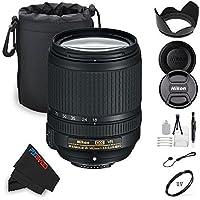 Nikon 18-140mm f/3.5-5.6G ED VR AF-S DX NIKKOR Zoom Lens + Pixi-Basic Accessory Bundle