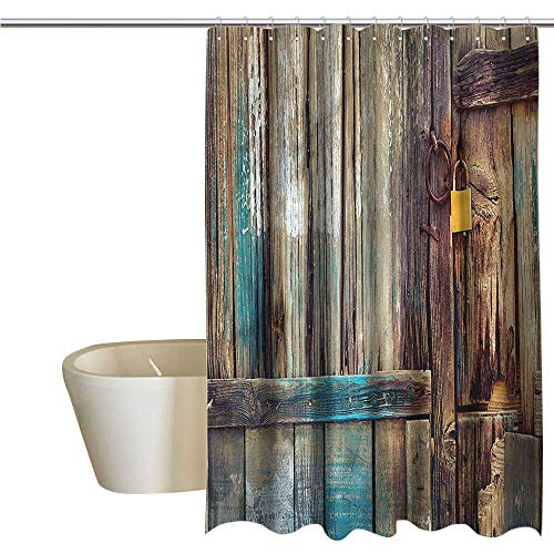 - Shower Curtains Liner Fabric Rustic,Color Details Mansion,W108 x L72,Shower Curtain for Girls
