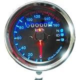 Yosoo Universal-Tachometer für Motorrad, LED-Hintergrundbeleuchtung und Leuchtanzeigen