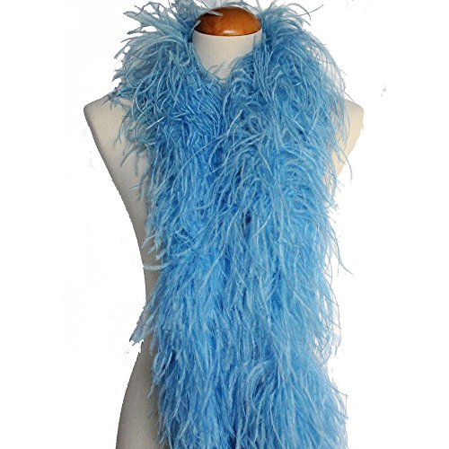 hsn_cth Periwinkle 4ply Ostrich Feather Boa Scarf Prom