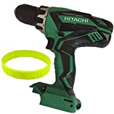Hitachi 18-Volt 1/2-in 13mm Cordless Variable Speed and Reversible with Clutch Dial, Shift Knob Driver Dri With LED Light ,Bare Tool no Battery or Charger Included + Livemylife Wristband (Drill) For Sale
