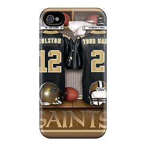 [RcAff14022ezJXW]premium Phone Case For Iphone 4/4s/ New Orleans Saints Uniform Tpu Case Cover