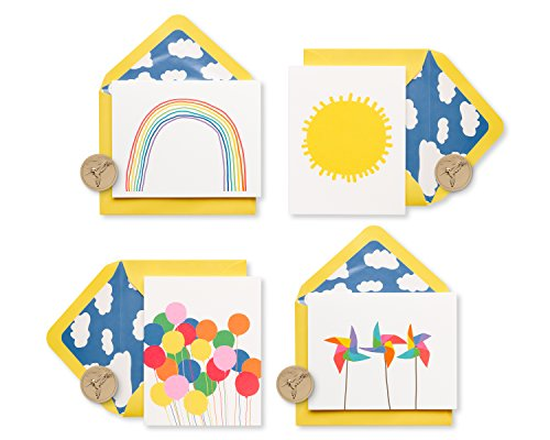 Papyrus Little Box of Happy Keepsake Boxed Blank Note Cards, 20-Count ()