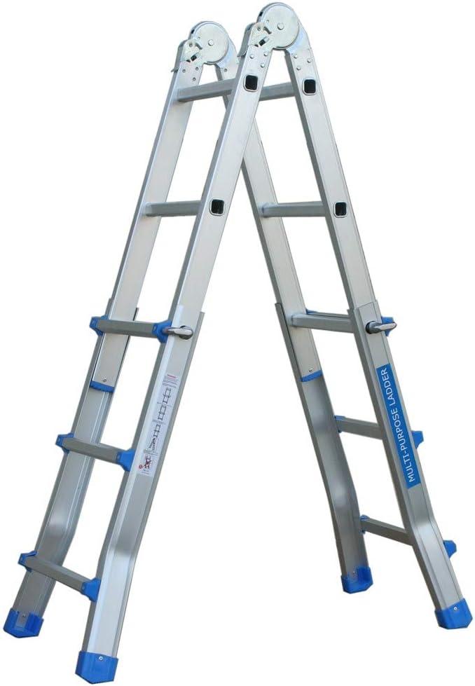 Escalera multifunción 2,9 m aluminio escalera escalera Andamio de Articulación Escalera: Amazon.es: Bricolaje y herramientas