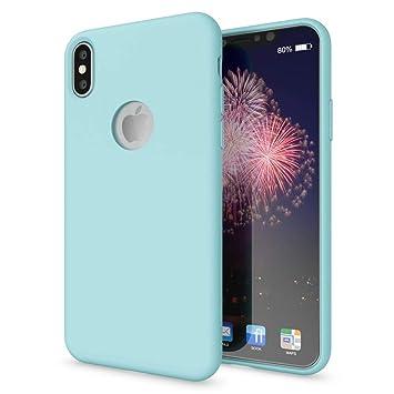 NALIA Liquid Silicona Funda Compatible con iPhone X, Dura Tacto Suave Carcasa Protectora Ultra-Fina con Forro de Microfibra, Telefono Movil Cubierta ...