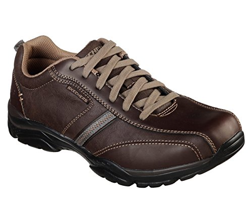 Skechers Relaxed Fit Rovato Larion Mens Sneaker Oxfords Brown 10.5 EWW