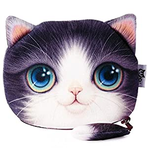 MK Shoppy New Cartoon Cat Zipper Case Coin Purse Mini Cute Kids Wallet Kawaii Storage Bag Women Makeup Buggy Bag Pouch Holder