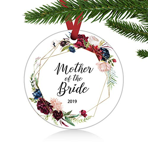 ZUNON Mother of The Bride Ornament Gift Christmas Floral Rustic Rose Gift to Mother in Law Mob Mother Gift Wedding Mother Home Décor Wedding Decoration 3