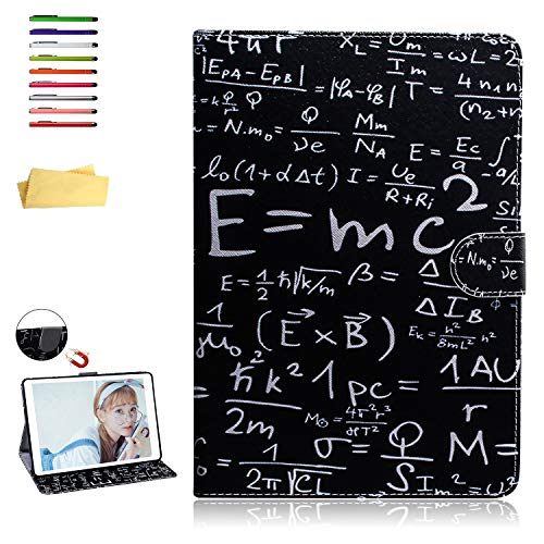UUcovers 8 Inch Case for Amazon Kindle Fire HD 8 (8th/7th/6th/5th Gen, 2018/2017/2016/2015), Slim Stand Synthetic Leather Magnetic Wallet TPU Black Cover with Pocket Card Holder, Mathematical Formula ()