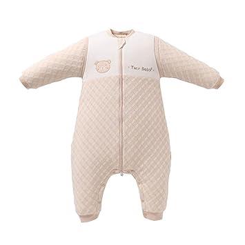 Saco de dormir xiuyun algodón para bebés bebés otoño e Invierno Anti-Kick para niños (Color : Beige, Tamaño : Metro): Amazon.es: Hogar