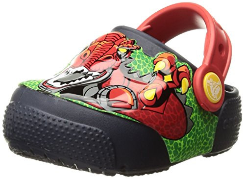 - Crocs Kids' Fun Lab Light-Up Boys Graphic Clog, Robosaur Rex, 6 M US Toddler