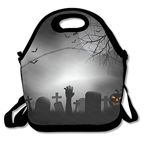 Ghastly Halloween Cemetery Cute Lunch Tote Bags Insulated Waterproof Lunch Box Food Picnic Bags For Adults,Men,Women,Kids ()