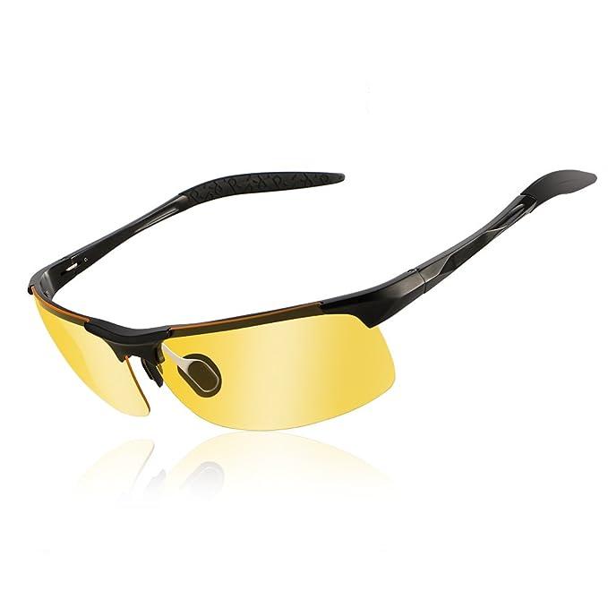 Gafas de visión nocturna conducción de Gafas de sol Polarizadas de la Visión Nocturna para los Antideslumbrante de conducción de los vidrios noche: ...
