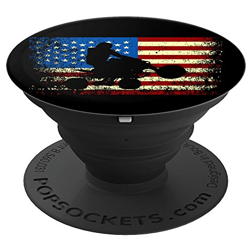Quad Shirts ATV American Flag - PopSockets Grip and Stand for Phones and Tablets ()