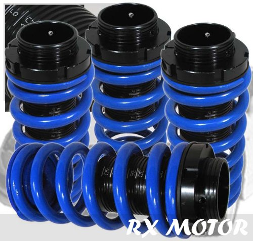 98-02 Honda Accord Prelude Black Scale Adjustable Coilover Springs Lowering Blue