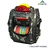 FITactic Luxury Frisbee Disc Golf Bag Backpack (Capacity: 25-30 Discs) (Woodland Camouflage)
