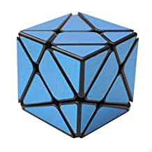 HJXD globle Axis Special Shape Magic Cube Black Kingkong with Blue Stickers