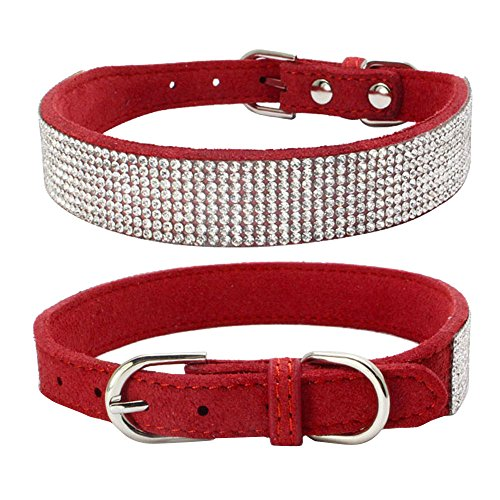 Collar Rhinestone,Bling Dog Collar Sparkly Rhinestone Studded Small Medium Dog Collar Pet Supplies Dog ()
