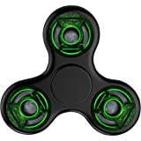 Green Lantern Corps Tri-Spinner Fidget Toy Hand Spinner, Stress Reducer Relieve Anxiety, Great Gift, Ultra Fast Bearings(Black)