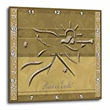 Cheap 3dRose dpp_18741_2 Gold Angel-Wall Clock, 13 by 13-Inch