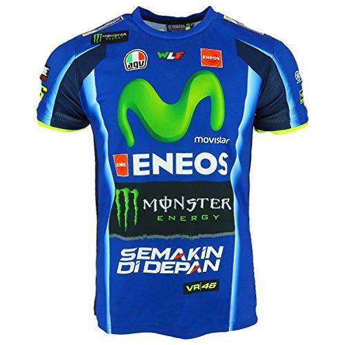 Valentino Rossi VR46 Moto GP M1 Yamaha Racing Replica T-shirt Official 2017
