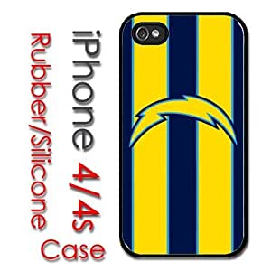 iPhone 4 4S Rubber Silicone Case - San Diego Chargers Football