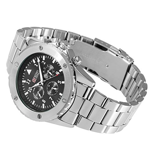 - Military Royale Sport MechancIal Mens Watch Black Dial Stainless Steel Bracelet