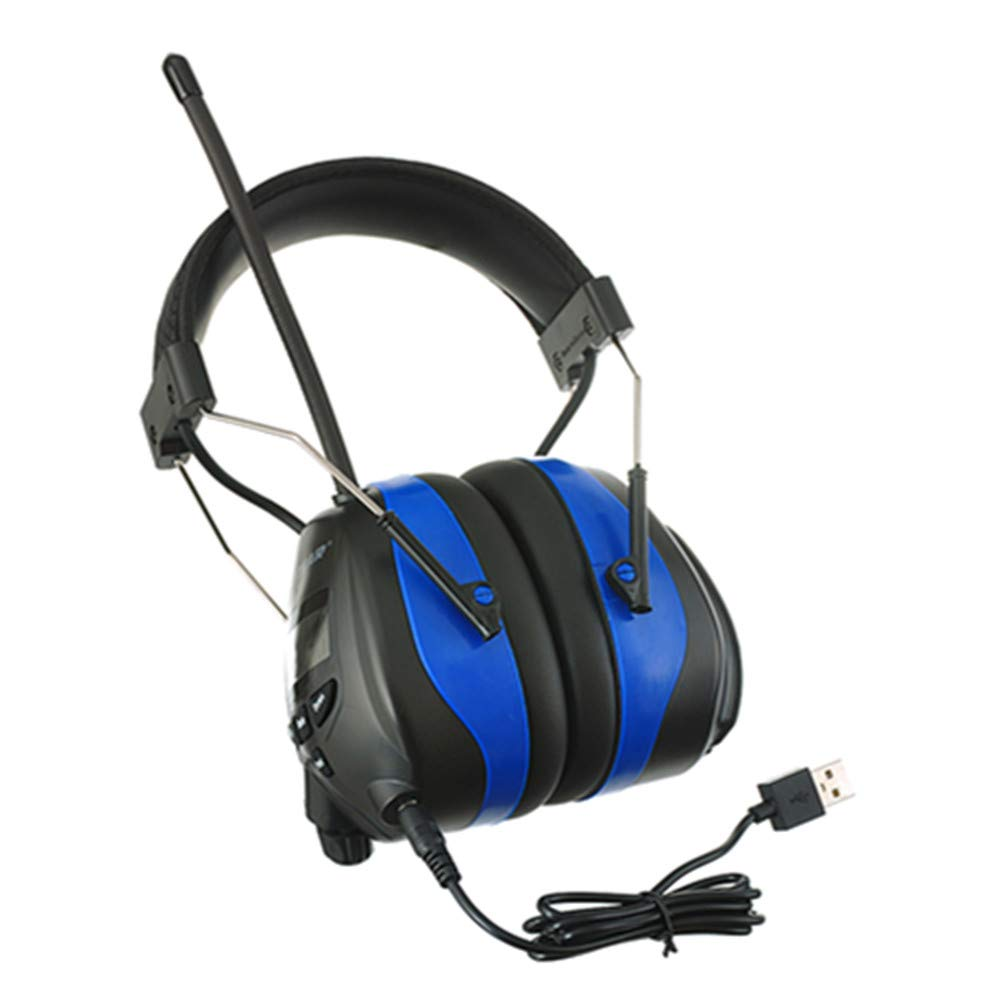 PROTEAR AM FM Headphones Bluetooth Rechargeable NRR 25dB Noise Reduction Safety Earmuffs for Lawn Mowing Ourside Work,with a Carrying Case by PROTEAR (Image #5)