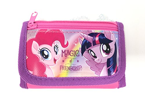 Little Pony Purse (My Little Pony Wallet-Passport Bag- String Sling Tote Bag Backpack (PONY AND FRIEND WALLET))