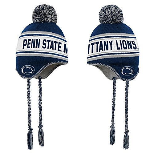 (NCAA by Outerstuff NCAA Penn State Nittany Lions Toddler Jacquard Tassel Knit Hat w/ Pom, Dark Navy, Toddler One Size)