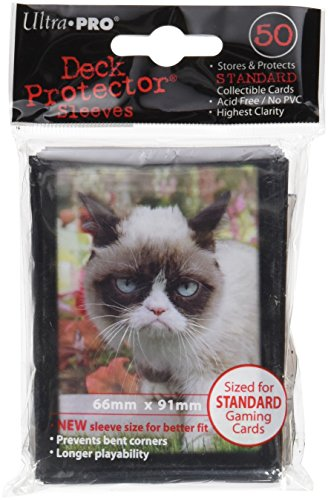 Ultra Pro SLEEVES Grumpy Cat Flowers 50 D12 Card Game