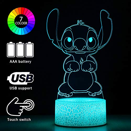 3D Illusion Birthday Gifts Night Light, 2 Pattern and 16 Color Change Decor Lamp for Kids (16 Color Change)
