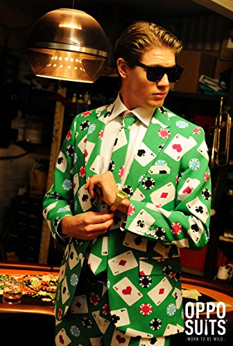 OppoSuits Mens Testival Crazy Suit,White,36 (Gay Guy Halloween Costumes)