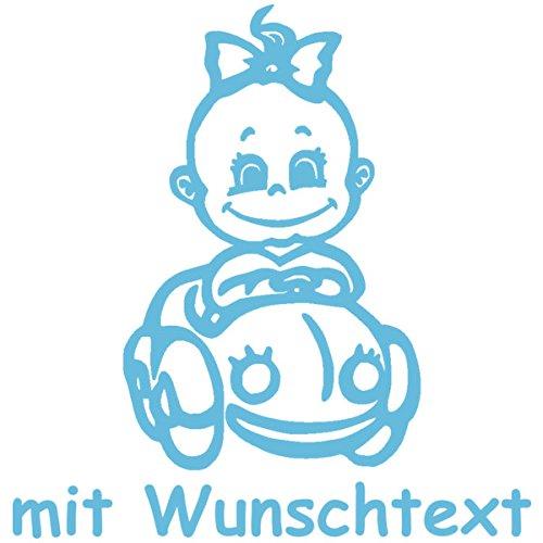 Babyaufkleber Mit Name Wunschtext Motiv 131 16 Cm 20 Farben Und 11 Schriftarten Wählbar Baby