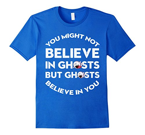 Homemade Halloween Costumes For Males (Mens Halloween Costume T-shirt Ghosts Believe In You Medium Royal Blue)