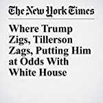 Where Trump Zigs, Tillerson Zags, Putting Him at Odds With White House | David E. Sanger,Gardiner Harris,Mark Landler