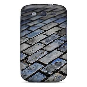 Galaxy S3 Case Bumper Tpu Skin Cover For Dark Floor Tiles Accessories