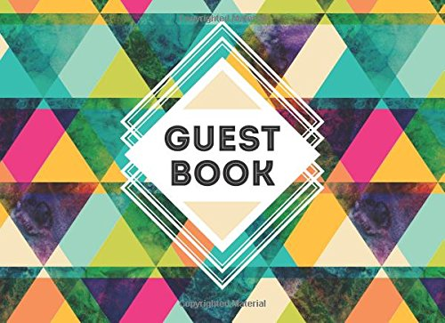 Guest Book: Vacation Home Guest Book: Geometric Pattern