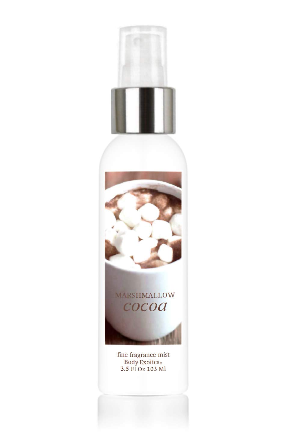 """Marshmallow Cocoa Perfume Fine Fragrance Mist by Body Exotics 3.5 Fl Oz 103 Ml""""Two thumbs, way up!"""" - Perfect Fall Blend of Hot Cocoa, Melting Marshmallows & Whipped Cream"""