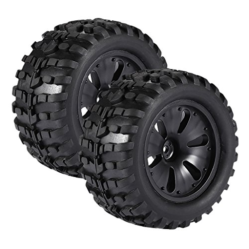 Tires Monster Mt Truck (Homyl Pack of 2 1/10 RC Climbing Car Monster Truck Wheels Tyres Tires for HPI Savage MT ZDRacing XS LRP Parts)