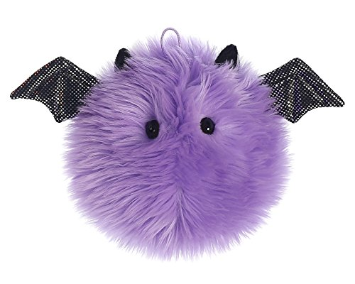 Aurora World Purple Puff Ball Bat Plush, Purple, 5
