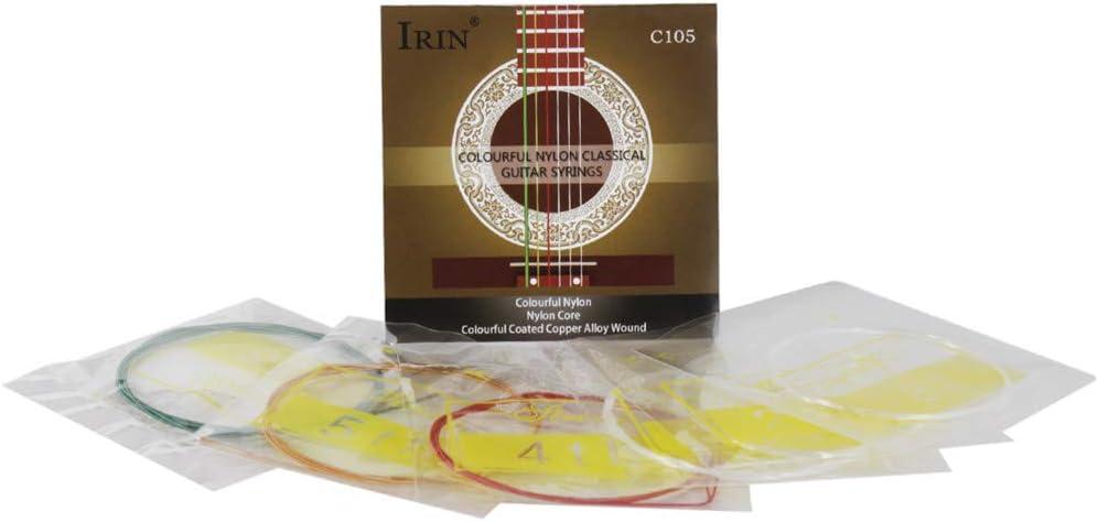 XuBa C105 - Cuerdas para guitarra de concierto (nailon, alambres metálicos, tensión estándar)
