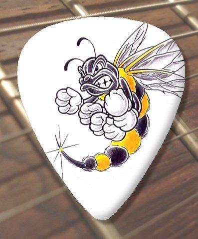 10 x de tatuaje de selecciones de la guitarra de la picadura (D86 ...