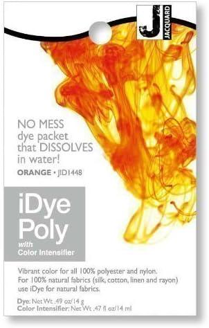 Jacquard iDye Poly - Stoff Farbstoff für Polyester und Nylon (Verschiedenen Farben Erhältlich) - Orange