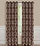 Dainty Home Armada Grommet Window Panel, 53 by 84-Inch, Brown