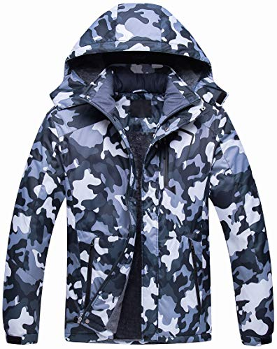 Men's Mountain Waterproof Ski Jacket Windproof Snowboarding Jacket Warm Winter Coat Raincoat